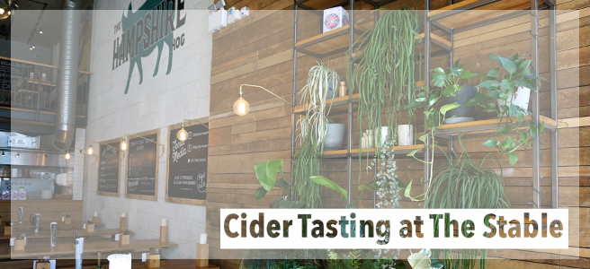 Food: Cider Tasting at The Stable